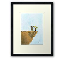 Go Green, Save The Trees Cartoon Framed Print