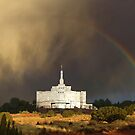 Snowflake Arizona Temple - Rainbow 30x20 by Ken Fortie