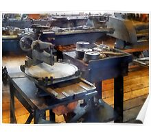 Machine Shop With Punch Press Poster
