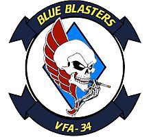 VFA-34 Blue  Patch Photographic Print