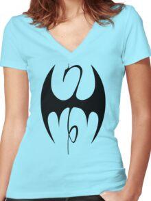 Iron Fist emblem Women's Fitted V-Neck T-Shirt