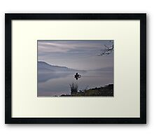 Misty Coniston Water Cumbria Framed Print