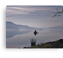 Misty Coniston Water Cumbria Canvas Print