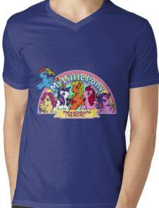 Vintage friendship is magic. Mens V-Neck T-Shirt