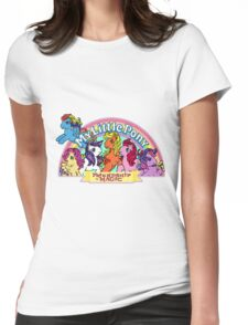 Vintage friendship is magic. Womens Fitted T-Shirt