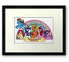 Vintage friendship is magic. Framed Print