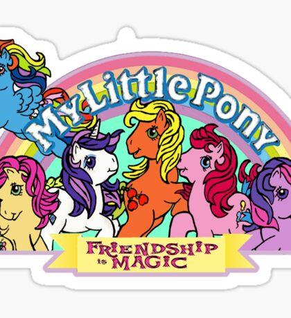 Vintage friendship is magic. Sticker