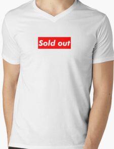 """Supreme """"Sold out"""" Mens V-Neck T-Shirt"""