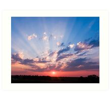 Abilene, Kansas Sunrise Art Print