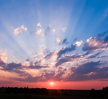 Abilene, Kansas Sunrise by Kenneth Keifer