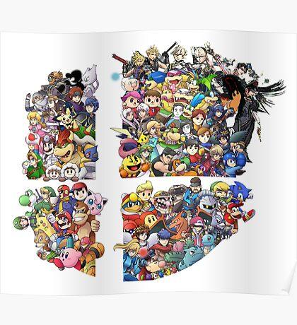 Super Smash Bros. 4 Ever + All DLC Poster