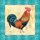 Tiffany Rooster 1 by Debbie DeWitt