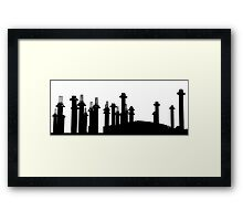 all black pillars Framed Print
