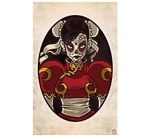 Chun Li Skull Girl Photographic Print