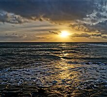 Sunset over Kimmeridge Bay by ArtemBonda