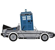 Drive Time [Dr. Who vs BTTF] by VovaShirts