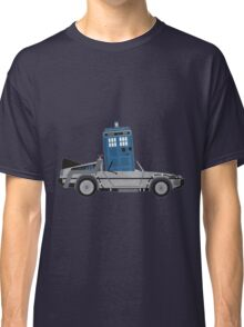Drive Time [Dr. Who vs BTTF] Classic T-Shirt