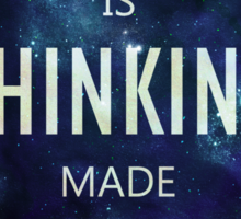 """""""Design Is Thinking Made Visual"""" -- Saul Bass Quote Sticker"""
