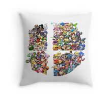Super Smash Bros. 4 Ever Throw Pillow
