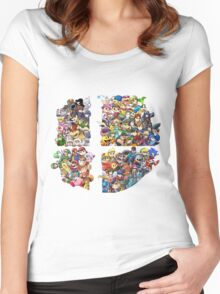 Super Smash Bros. 4 Ever Women's Fitted Scoop T-Shirt