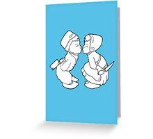 Kissing Dutch Kids Greeting Card