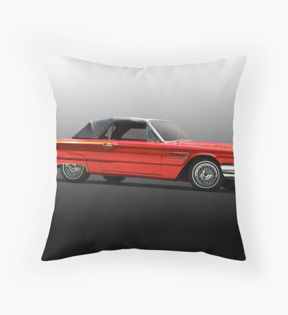 1965 Ford Thunderbird Convertible Throw Pillow