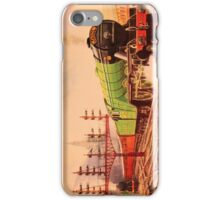 The flying Scotsman, vintage train watercolour iPhone Case/Skin