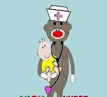 NICU Nurse Sock Monkey iPhone Cases by gailg1957