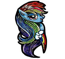 Mlp - Rainbow dash Photographic Print
