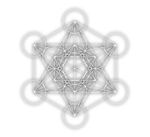 Metatron Cube - White Photographic Print