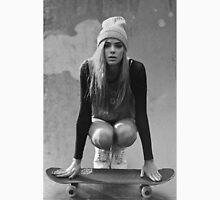 Skateboard Girl Mens V-Neck T-Shirt