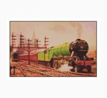 The flying Scotsman, vintage train watercolour One Piece - Short Sleeve