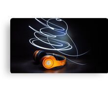 Beats by dre, light painting  Canvas Print