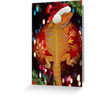 Christmas bearded dragon  Greeting Card