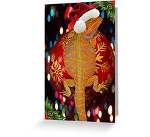 Christmas bearded dragon  Greeting Card