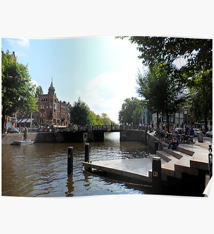 Amsterdam Canal 2 Poster