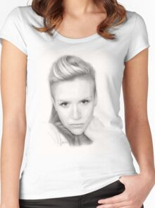 """""""Kerry"""" Women's Fitted Scoop T-Shirt"""