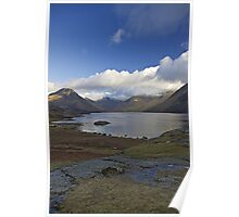 Blue sky over Wastwater Poster