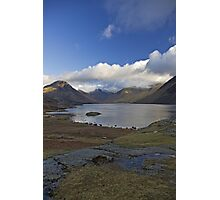 Blue sky over Wastwater Photographic Print