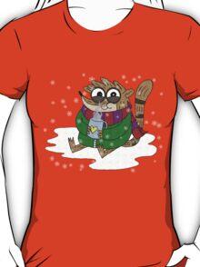 Regular Show - Rigby Sitting On Snow T-Shirt