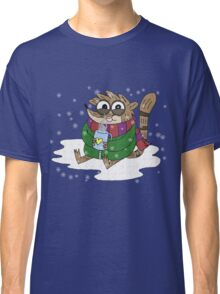 Regular Show - Rigby Sitting On Snow Classic T-Shirt