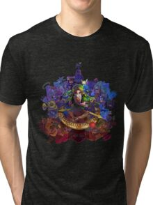 The Legend of Zelda Majora's Mask 3D Artwork #3 Full Cover Tri-blend T-Shirt