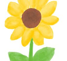 Sunflower - Watercolor by cleo1308me