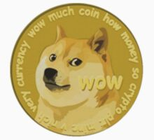 Dogecoin! Small logo on corner of shirt, Much Wow. by tehfett