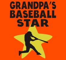 Grandpa's Baseball Star Kids Tee