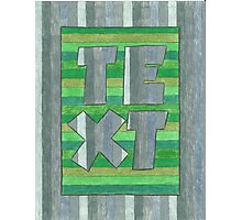 Four Letter Words, TEXT Photographic Print