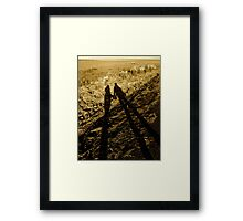 love in the shadows Framed Print