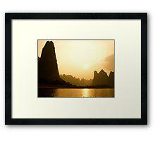 Chinese sunset Framed Print