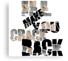 Cracked Back Dry  Canvas Print
