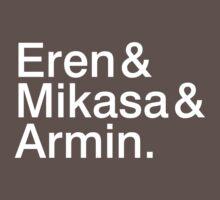 Eren & Mikasa & Armin. by brittanacedes